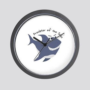 Predator Of The Seas Wall Clock