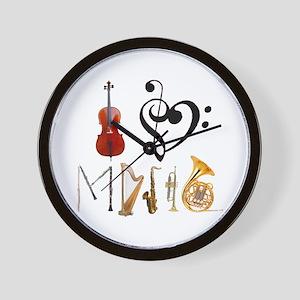 I Love Music Wall Clock
