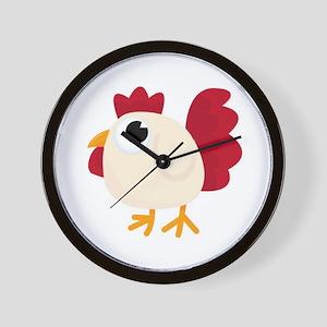 Funny White Chicken Wall Clock