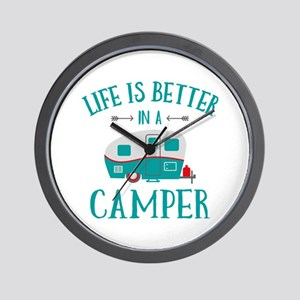 Life's Better Camper Wall Clock