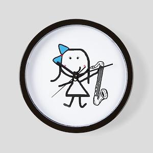 Girl & Bass Clarinet Wall Clock