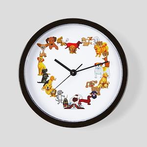 Dog Heart Wall Clock