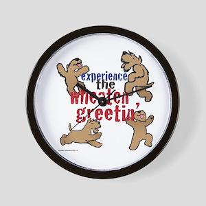 Wheaten Greetin' Wall Clock