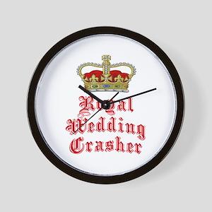 Royal Wedding Crasher Wall Clock