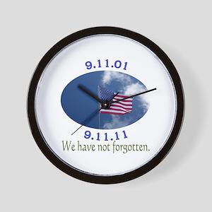 9-11 Not Forgotten Wall Clock
