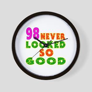 98 Birthday Designs Wall Clock