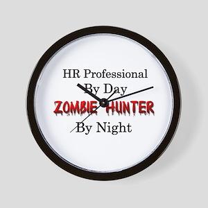 HR Professional/Zombie Hunter Wall Clock