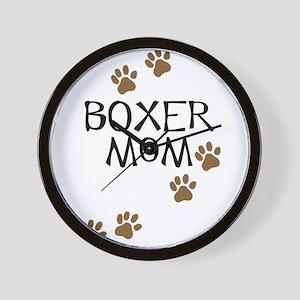 Boxer Mom Wall Clock
