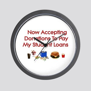 Student Loan Donations Wall Clock
