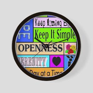 12 step sayings Wall Clock