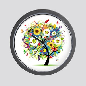 summer tree Wall Clock