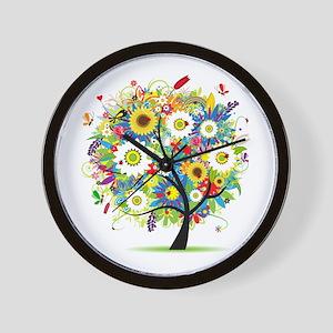 summer tree Wall Clock