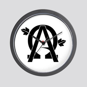 Alpha And Omega Combined Wall Clock