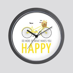 Makes You Happy Wall Clock