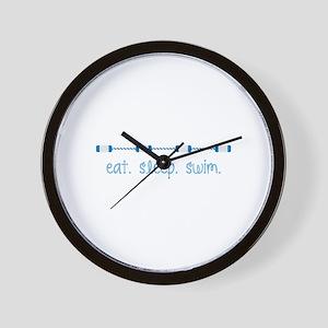 Eat Sleep Swim Wall Clock