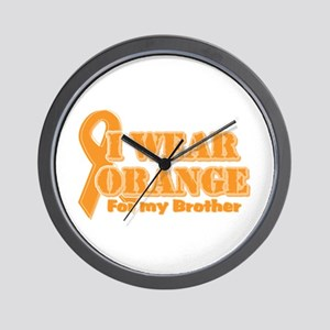 I wear orange brother Wall Clock