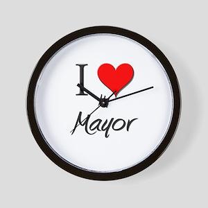 I Love My Mayor Wall Clock