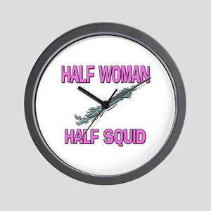 Half Woman Half Squid Wall Clock