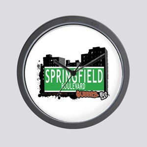 SPRINGFIELD BOULEVARD, QUEENS, NYC Wall Clock