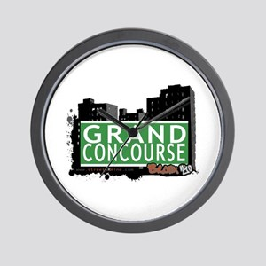 Grand Concourse, Bronx, NYC Wall Clock