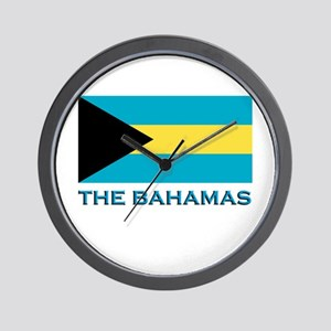 The Bahamas Flag Gear Wall Clock