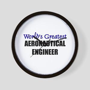 Worlds Greatest AERONAUTICAL ENGINEER Wall Clock