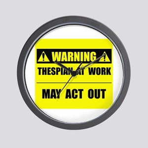 Thespian At Work Wall Clock