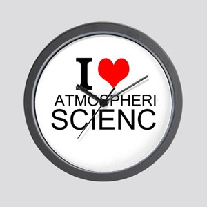 I Love Atmospheric Science Wall Clock