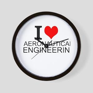 I Love Aeronautical Engineering Wall Clock