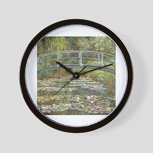 Monet Bridge over Water Lilies Wall Clock