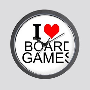 I Love Board Games Wall Clock