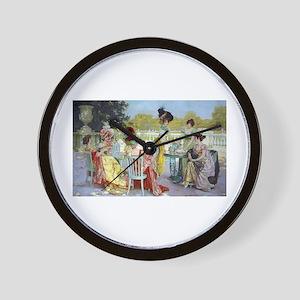 Regency Ladies Tea Party Wall Clock