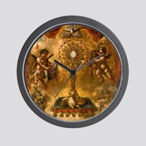 Allegory of the Eucharist Wall Clock