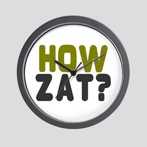 CRICKET - HOW ZAT - OUT!! Wall Clock