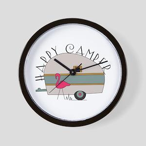 Happy Camper Wall Clock