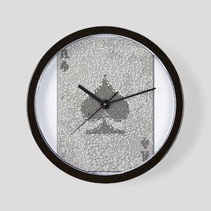 Ace of Spades Mosaic Wall Clock