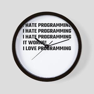 I Love Programming Wall Clock