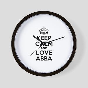 Keep Calm and Love ABBA Wall Clock