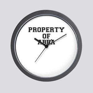 Property of ABBA Wall Clock