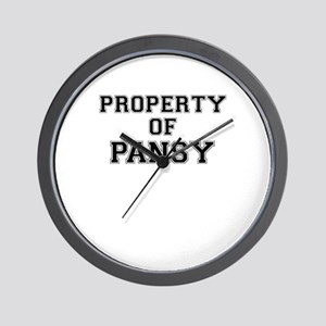 Property of PANSY Wall Clock