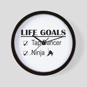 Tap Dancer Ninja Life Goals Wall Clock