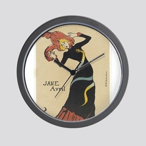 Vintage poster - Jane Avril Wall Clock