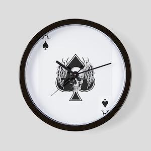 Ace of spade skull Wall Clock