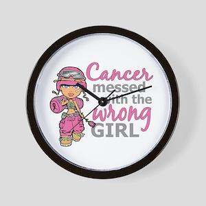 Combat Girl Breast Cancer Wall Clock