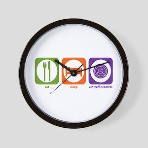 Eat Sleep Air Traffic Wall Clock