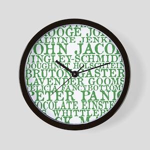 Gus Names Wall Clock