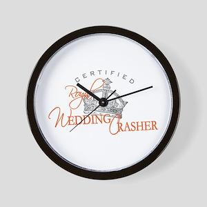 Royal Wedding Crashers Wall Clock