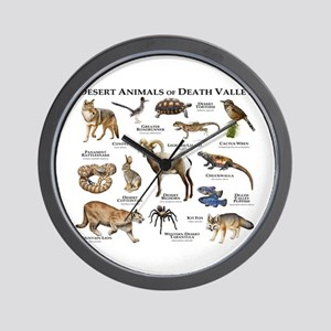 Animals of Death Valley Wall Clock