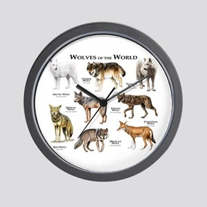 Wolves of the World Wall Clock