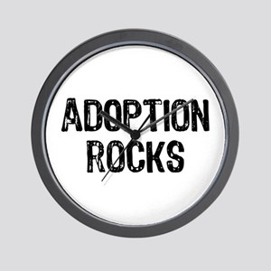Adoption Rocks Wall Clock
